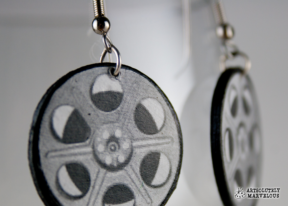 Film Reel Handmade Earrings